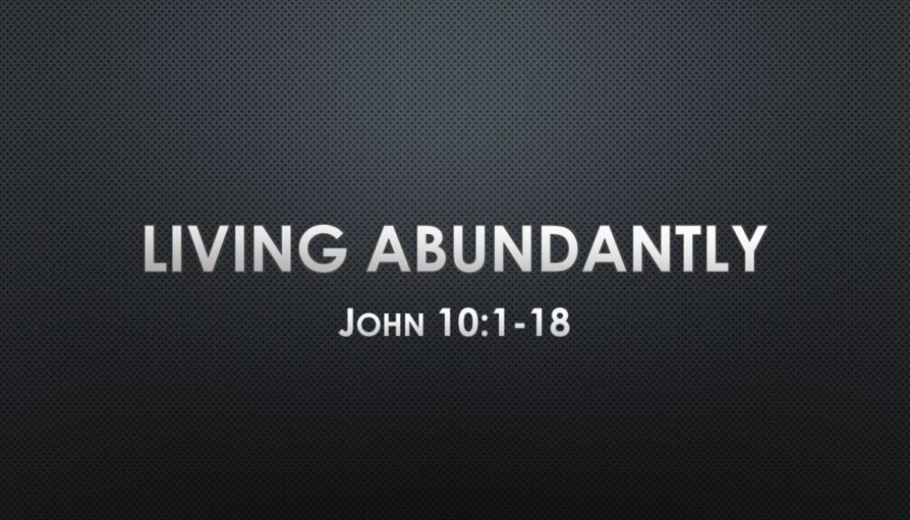 Nov 4 - John 10